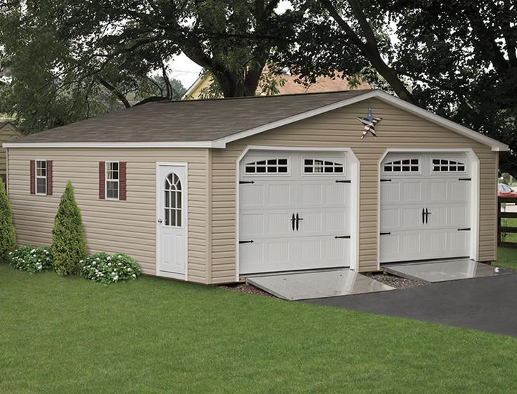 A two car garage or at very very least one car with a for Apartment carport kits