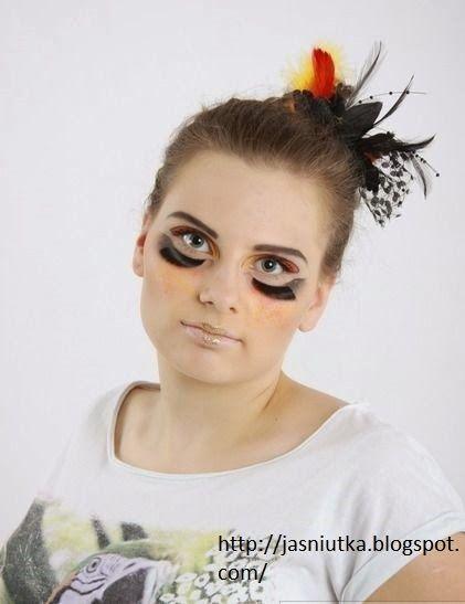 JaŚniutka   makijaż, recenzje : Kolorowy makijaż na modelce
