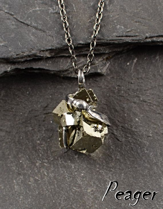 Pyrite necklaceNatural Pyrite Pendantmens Amulet