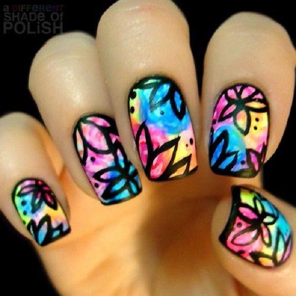 watercolor nail art ideas