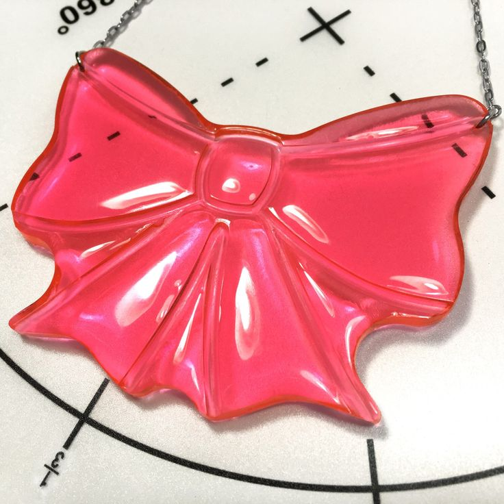 Made to Order : You can order this chunky resin bow necklace now in my Easy shop by customizing the length by inch. There are 4 different colors.