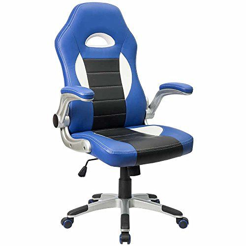 Furmax Gaming Chair Executive Racing Style Bucket Seat PU Leather Office  Chair Computer Swivel Lumbar Support