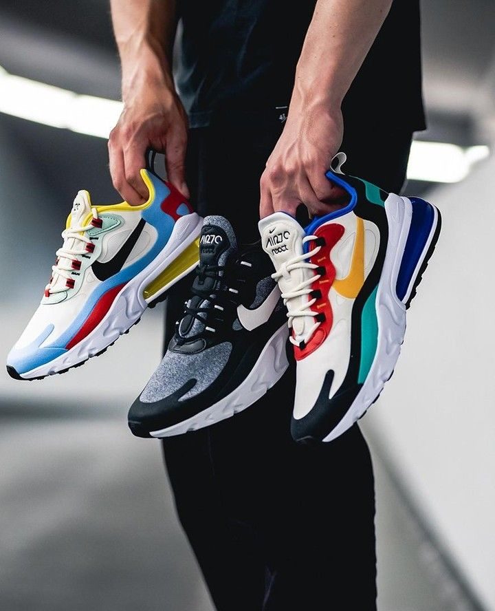 Nike Air Max 270 React Inspired By Bauhaus This Are The Newest Colorways Of The Nike Hybrid Model Th Sneakers Mode Sneaker Trend Nike Air Max