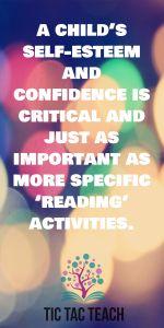 Self Esteem is critical for reading #preschool #reading #prekinder #teacher #tictacteach