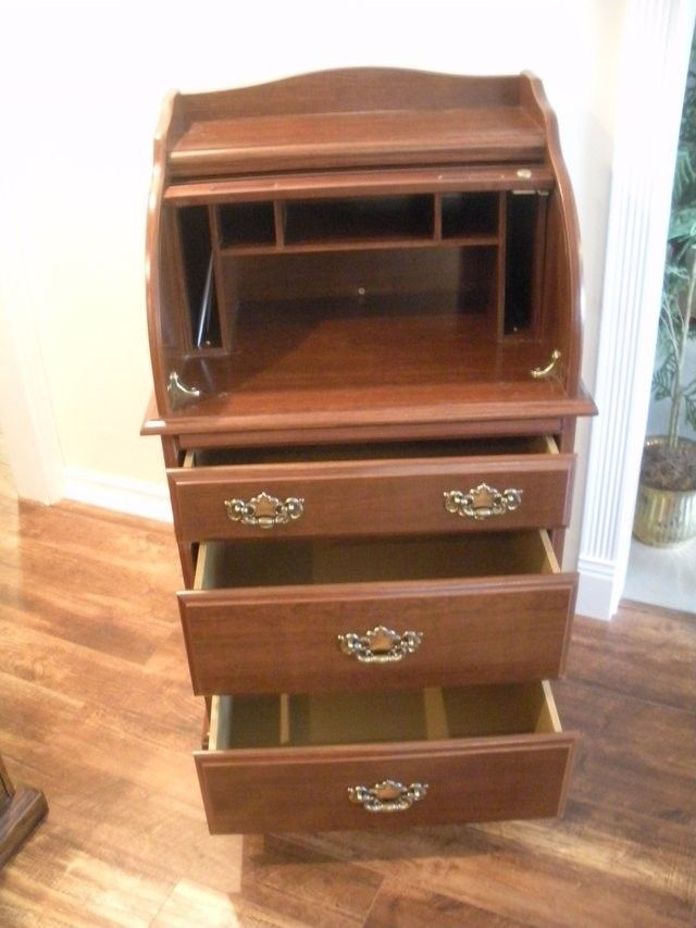 Small Roll Top Desk With File Drawer Desk With File Drawer