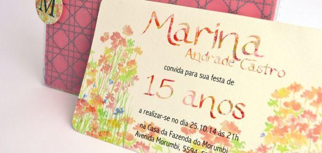 Convite 15 anos Papel e Estilo ♥♥