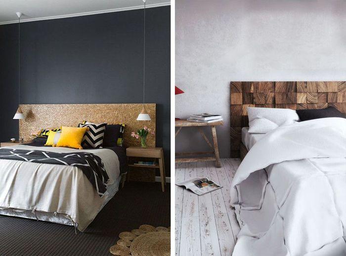 1001 id es pour fabriquer une t te de lit en bois originale t tes de lit en bois lit en. Black Bedroom Furniture Sets. Home Design Ideas