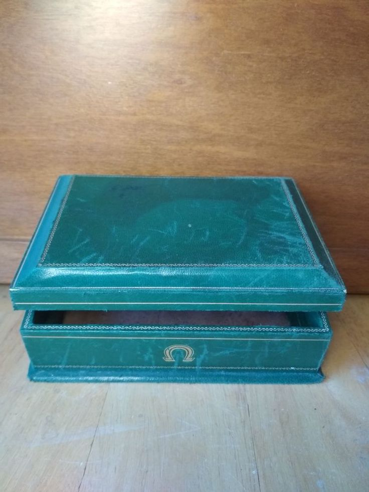 Vintage Green Omega Empty Box from Wrist Watch Precision Watch #OMEGA