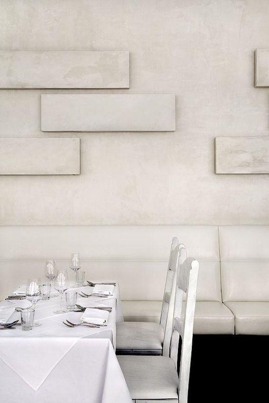 Edelputz betonimitation wei wand beschichtung ideen diy 39 pinterest restaurant beleuchtung - Akustikplatten wand ...