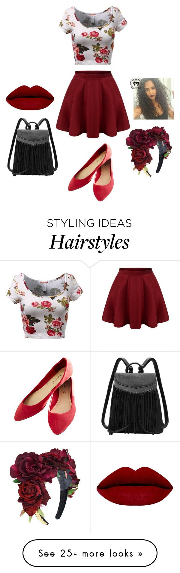 """""""Red rose"""" by dogs109 on Polyvore featuring Wet Seal, women's clothing, women's fashion, women, female, woman, misses and juniors"""