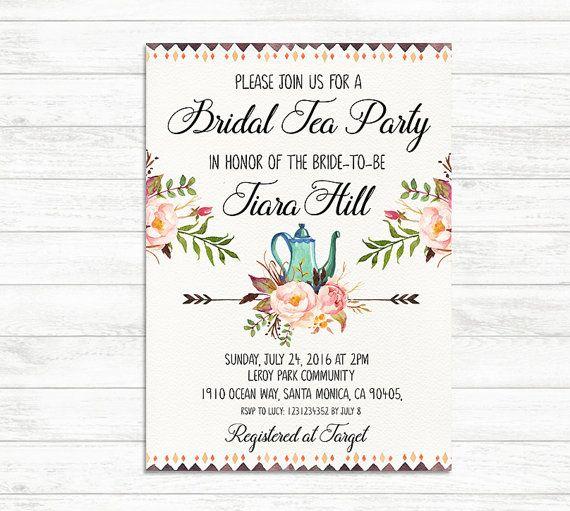 Best  Bridal Tea Invitations Ideas On   Tea Party