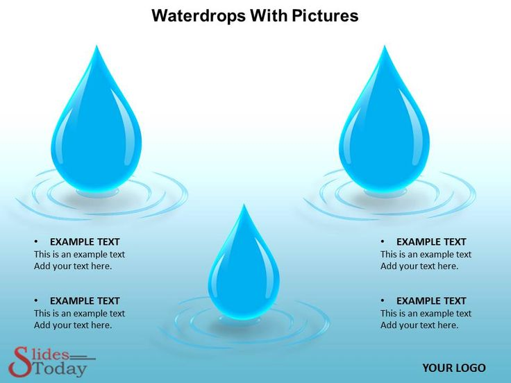 Waterdrops PPT Theme
