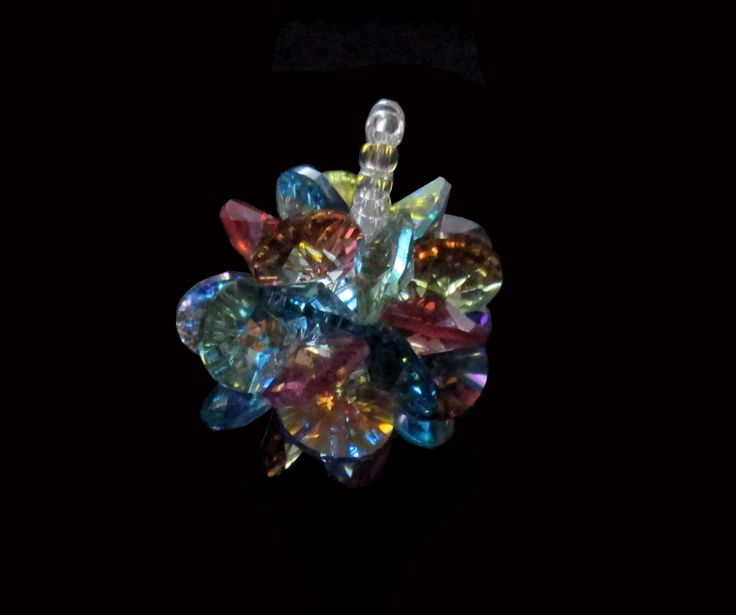 pingente de rívolis cristais swarovski 8mm colorido.