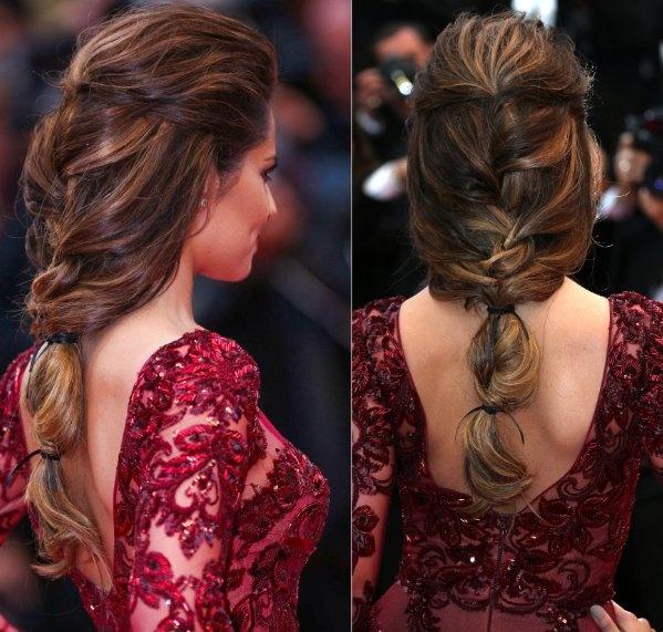 Cheryl Cole Wedding Hairstyle: Cheryl Cole Waterfall Fishtail Plait
