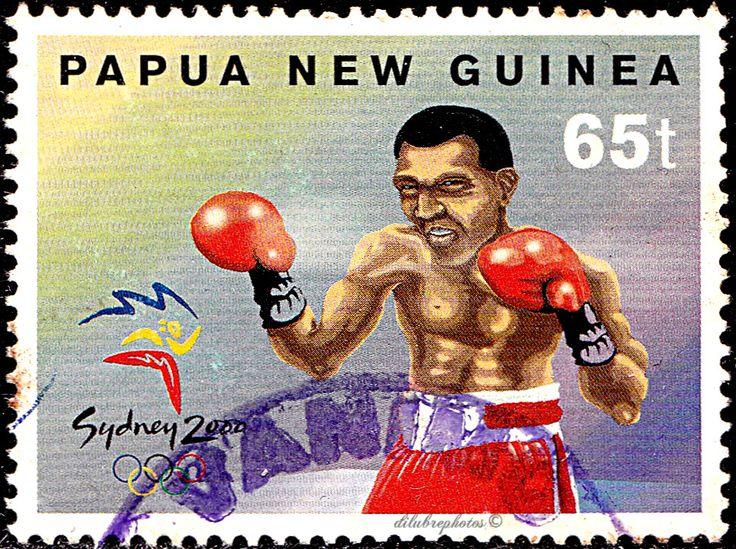 Papua New Guinea.  2000 SYDNEY SUMMER OLYMPICS.  BOXING. Scott 994 A231, Issued 2000 July 12, 65. /ldb.