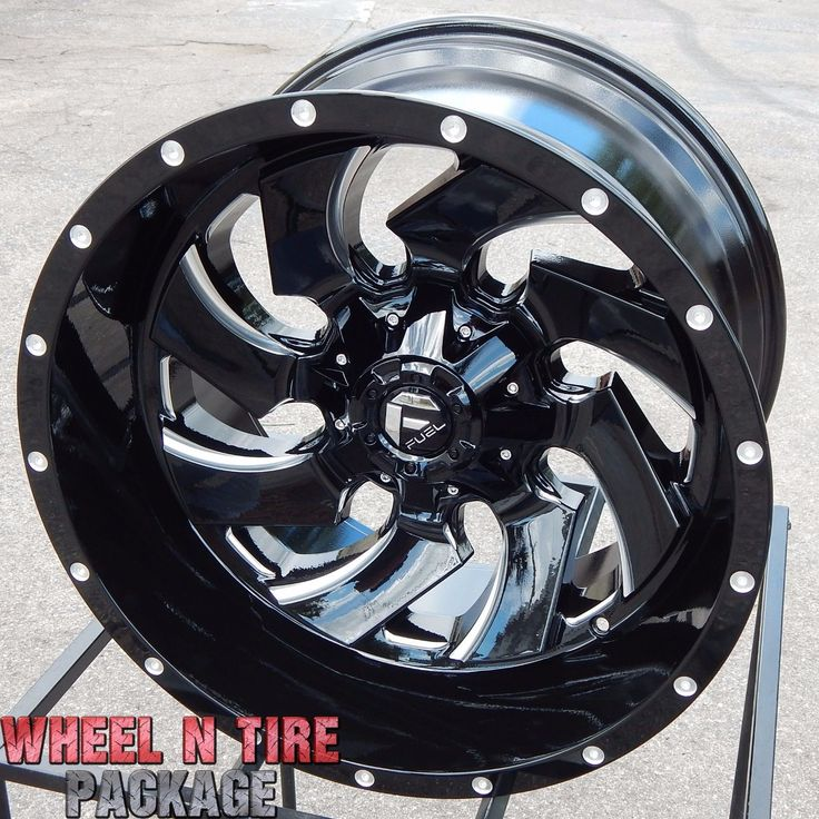20x12 BLACK D574 FUEL CLEAVER WHEELS RIMS F250 F350 SUPER DUTY EXCURSION FX4 XLT