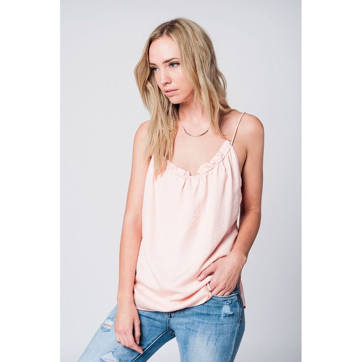Vendor: Q2 StoreType: Women - Apparel - Denim - JeansPrice: 45.00  Pink woven top with pleated neckline detail and spaghetti straps with an open back. Color: Pink  Material: 100% Cotton  Item Fit / Dimensions: Regular fit  Made In: United States  Shipped From: United States  Lead Time: 1 - 2 Days  Pink top with open back detail