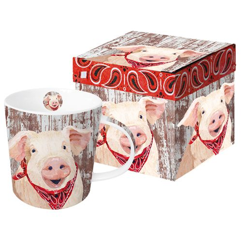 Our #TwoCanArt #pig #Mug #Pigmug and #keepsakebox A % of sales go to #autism organizations.