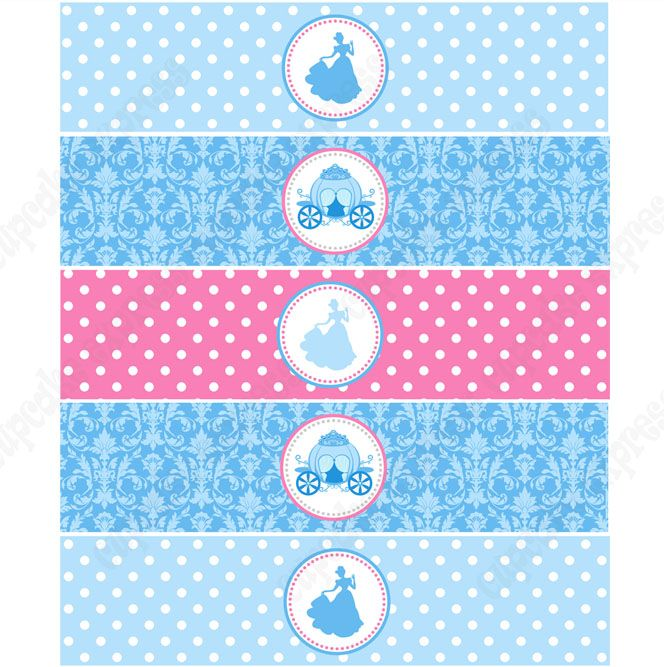 Cinderella Inspired Printable Water Bottle Labels
