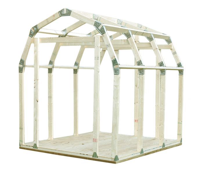 Features:  -Lumber not included.  -Made in the USA.  -Item included: Brackets, and instructions.  Color: -White.  Material: -Wood.  Shed Type: -Storage Shed.  Country of Manufacture: -United States. D