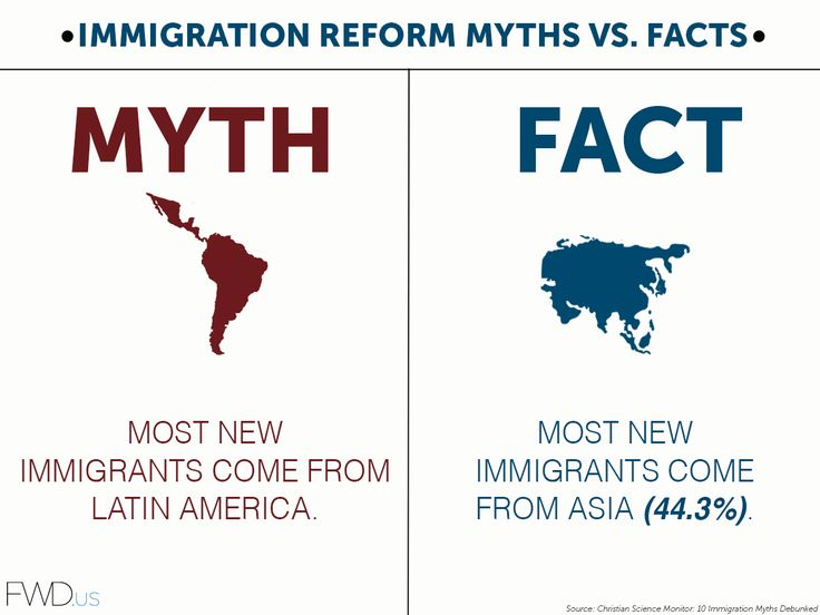 Myths vs facts about immigration reform immigration cir for Good facts about america