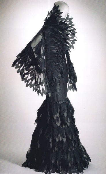 Arnold Scaasi | photo American Couturier  The Evil Queen from Snow White and the Huntsman. #raven queen