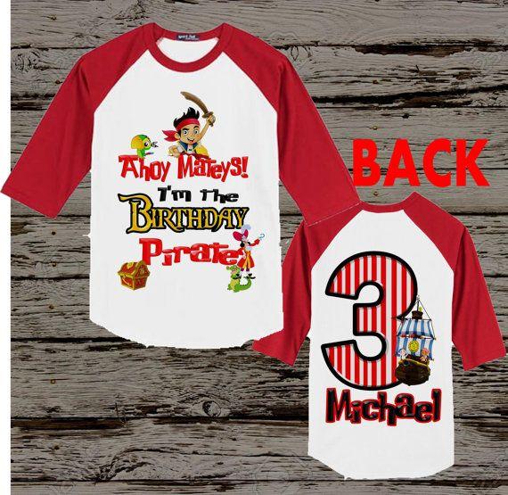 Jake and the Neverland Pirates Birthday Shirt - Jake Pirate Shirt