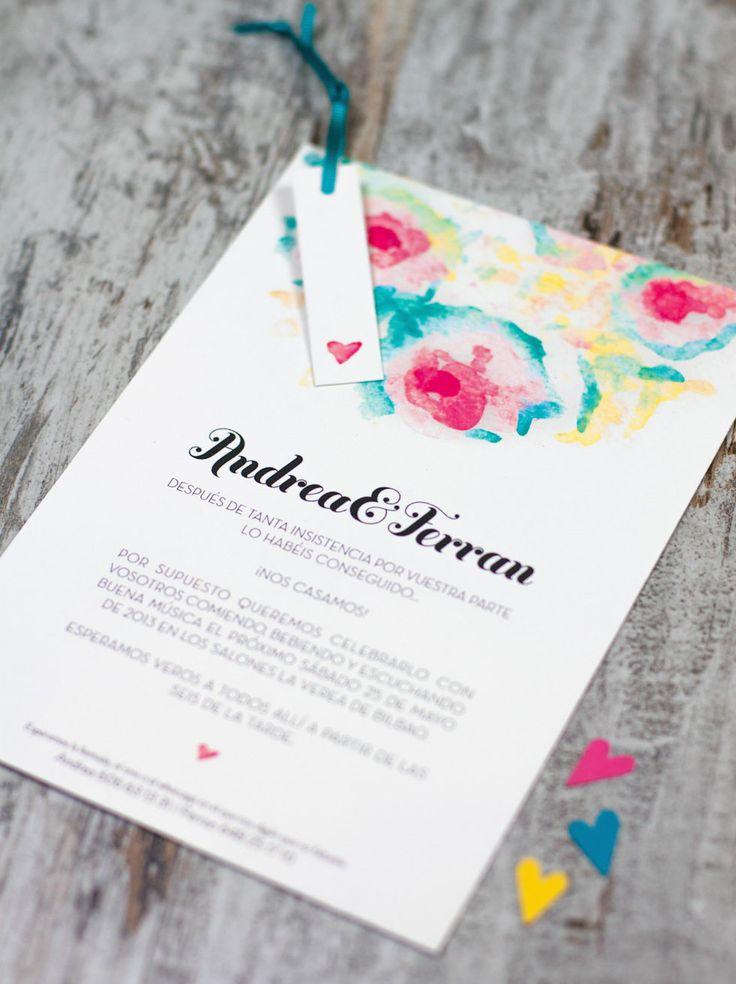 "Invitación de boda ""Acuarela"""