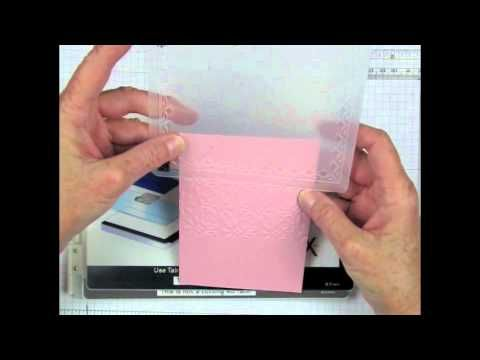 Learn to use two different Embossing Folders (Double Embossing Technique) to create a lovely background for your handmade cards and papercraft projects. www.stampingmadly...