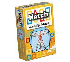 match menselijk lichaam Reactiespel Skelet, spieren, organen, zintuigen, bloedsomloop, ademhaling, spijsvertering. Wat hoort bij elkaar?