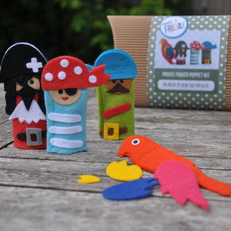Craft inspiration: Adorable felt pirate finger puppets