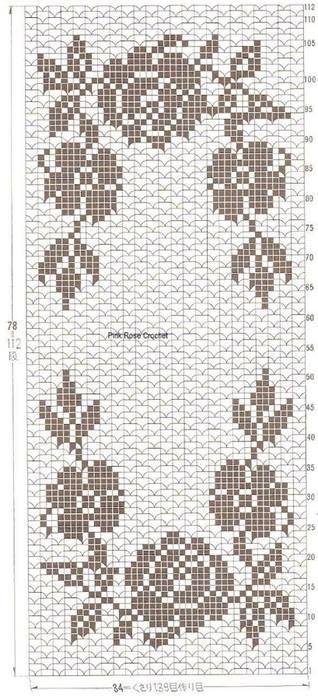 wzór szydełkowy filet