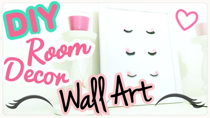 DIY - Room Decor - QUADRO MAKEUP con CIGLIA FINTE