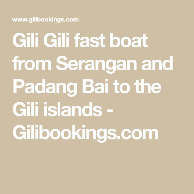 Gili Gili fast boat from Serangan and Padang Bai to the Gili islands - Gilibookings.com