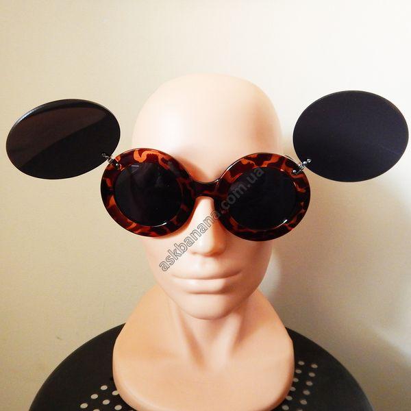 Женские солнцезащитные очки Lady Gaga paparazzi mickey mouse уши ушки Лэди ГаГа Микки Маус. Леопардовые: цена, описание, купить - askbanana.com.ua - Он-лайн магазин АскБанана, здесь можно купить солнцезащитные и имиджевые очки, флеш тату, косметику, кисти для макияжа, Apple iPhone чехлы, бижутерию, браслеты, спорт товары, подсветку колес, гаджеты, подарки с доставкой по всей Украине
