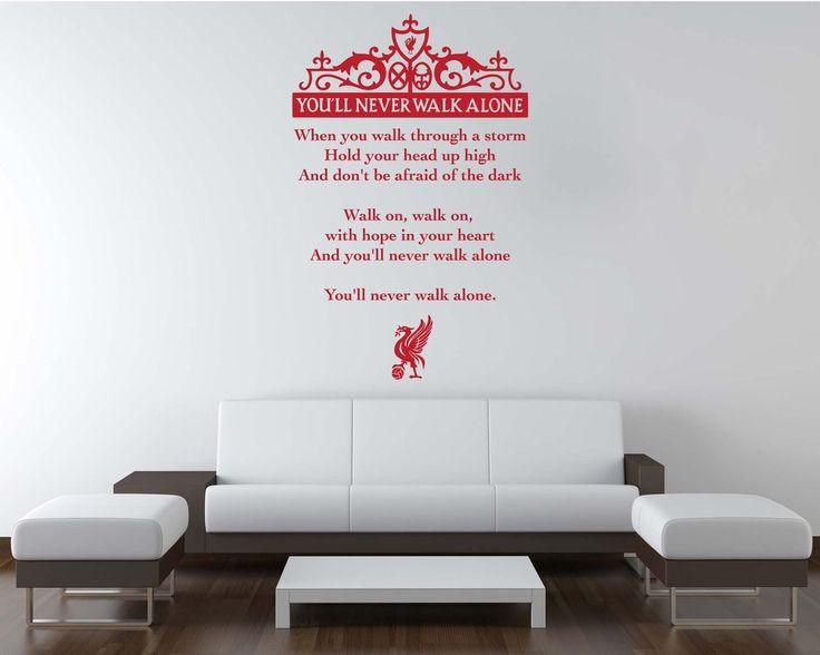 "Liverpool LFC Style ""YNWA Lyrics"" Wall Decal"