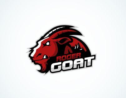 Mascot logo created for a gamer named Roger Goat.
