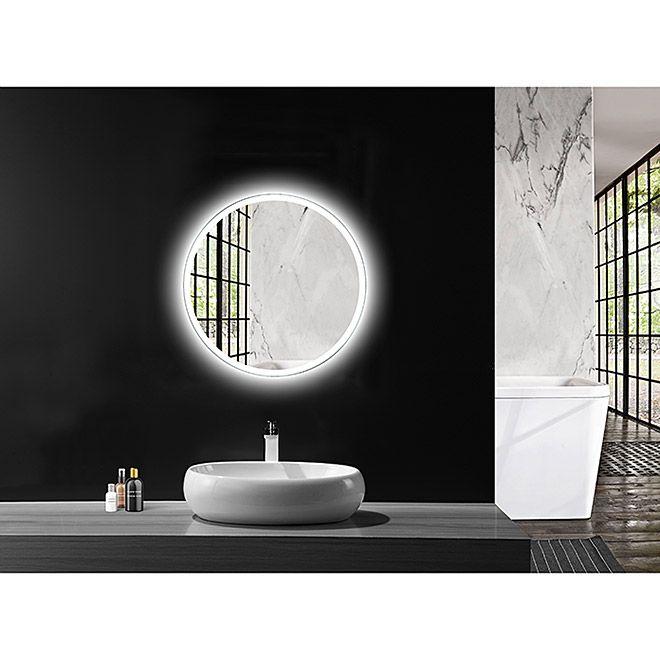 LED Lichtspiegel Silver Space Durchmesser 60 cm ...