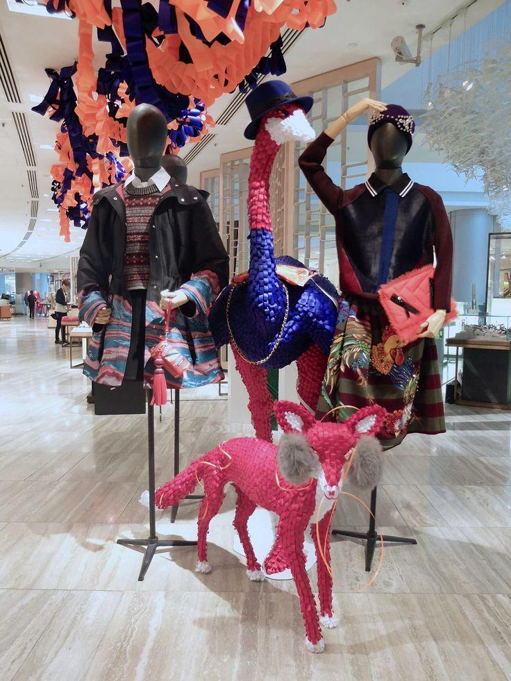 "Ribbonesia × Lane Crawford 2014 w display ""FANTASIA"" Artists on tumblr"