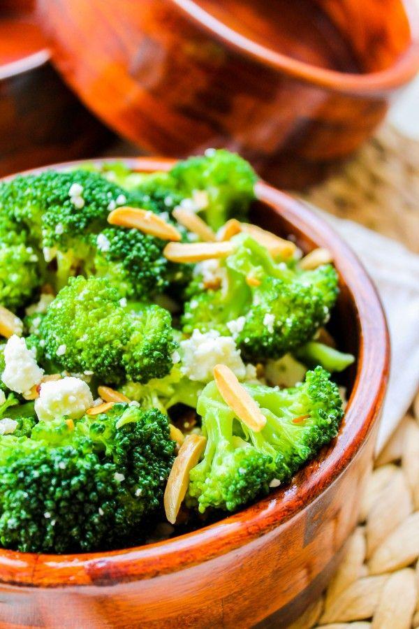 Broccoli wth Feta and Toasted Almonds by thefoodcharlatan #Broccoli #Feta #Almonds #Healthy