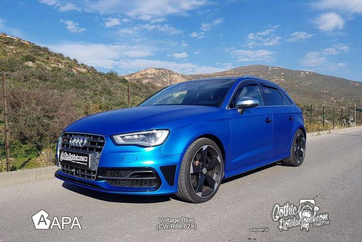 Voltage Blue (CW/R89.62X)  #apaspa #apafilms #voltageblue #bluemattmetal #pellicoleadesive #carwrapping #carwraps #apainside
