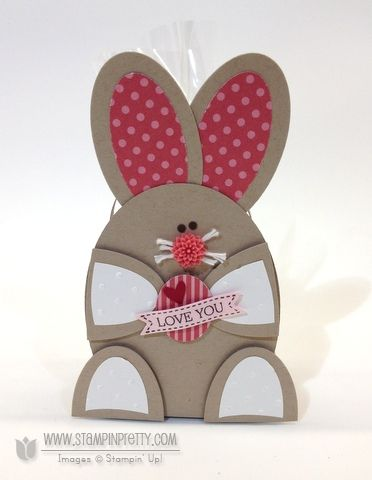 Stampin up stampinup oval punch framelits bunny basket purses die easter treat box