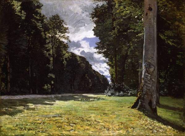 Il sentiero di Chailly nella foresta di Fontainebleau, olio su tela, Claude Monet