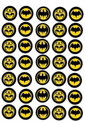 Kit de Batman para imprimir gratis.