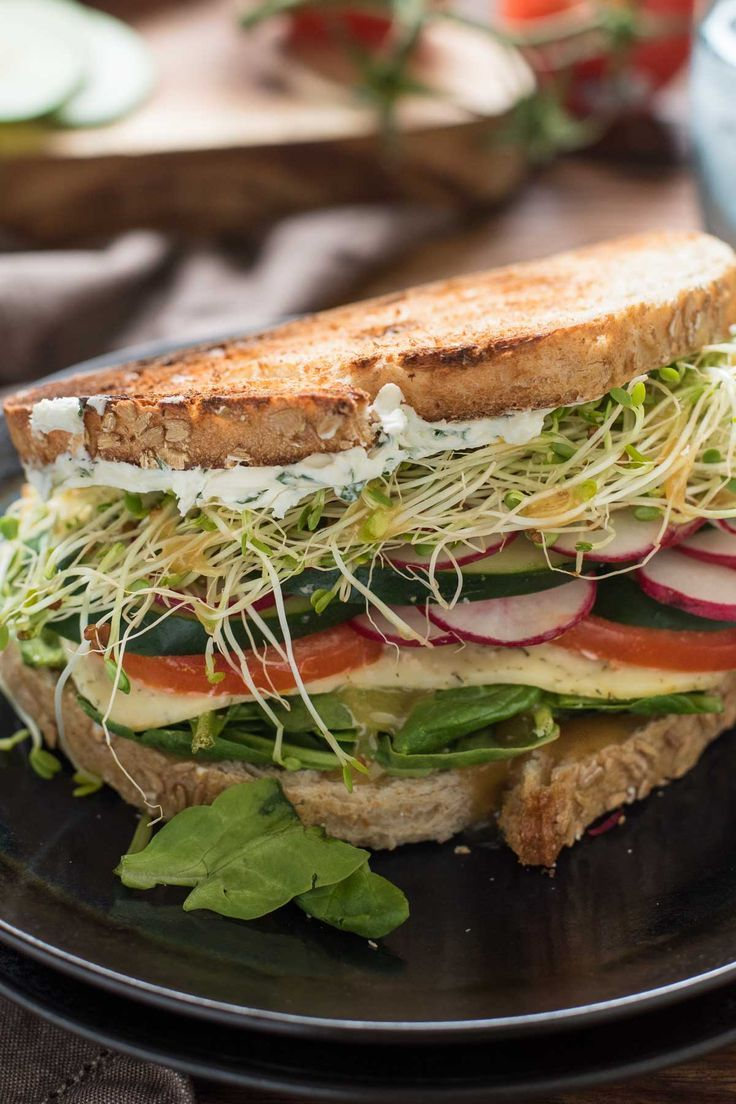 Loaded with tomatoes, cucumber, radish, and herbed cream cheese this is the…