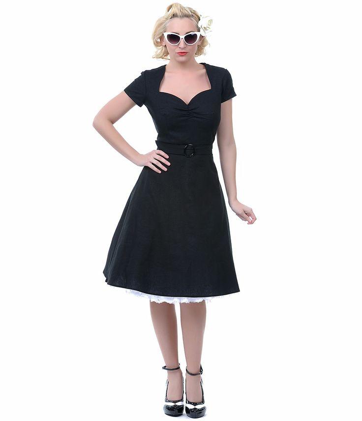 Heartbreaker 50's Style Lynette Black Aimee Sweetheart Dress