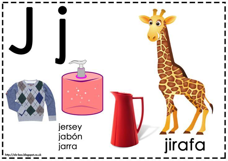 Asociamos los sonidos con las grafías convencionales - Letra J -