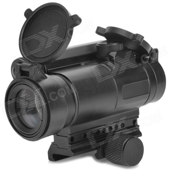 Material: Aluminum alloy - 33mm objective lens - 1X magnification - Caliber: 37mm - With 5 levels of brightness adjustment - Powered by 2 x AR13 batteries (included) - Aim point up/down adjustable - Comes with cleaning cloth & English manual http://j.mp/1v37EuB