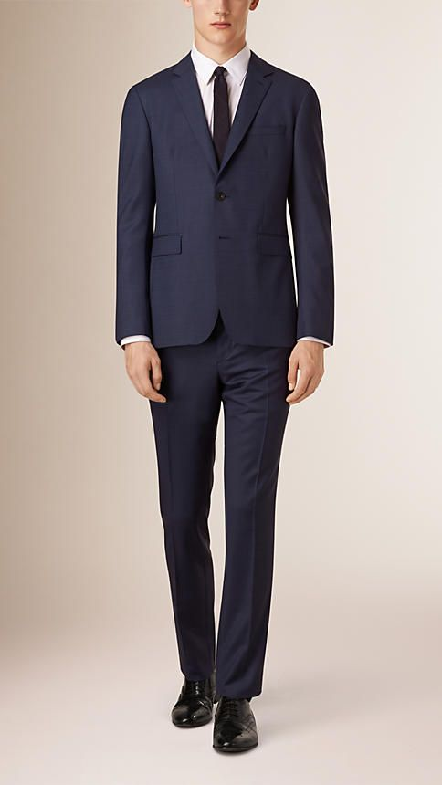 Navy Abito Travel Tailoring aderente in lana - Immagine 1