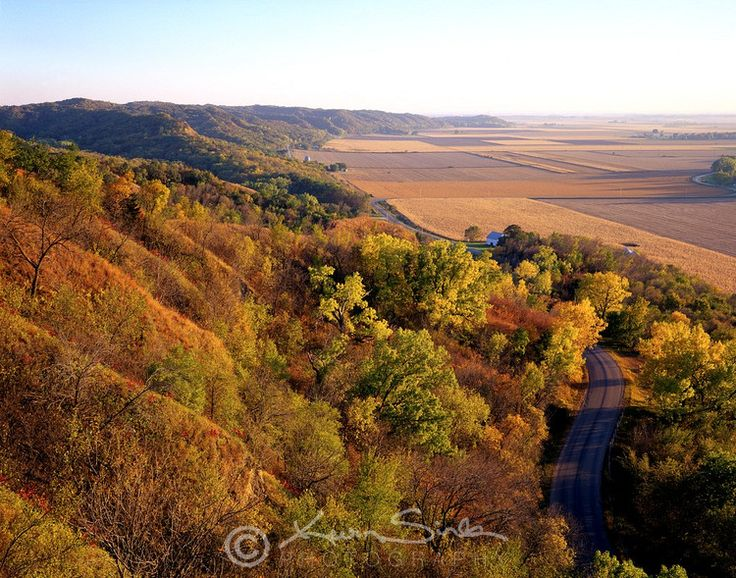 Loess Hills near Sioux City, Iowa